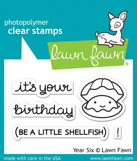 LF1050 S ~ YEAR SIX ~ SHELLFISH ~ CLEAR STAMPS BY LAWN FAWN
